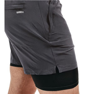 BARBELL Ghost Short in Charcoal Gray Men Size Small Athletic Gym Workout
